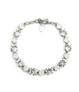 Krikor Witte armband kristal