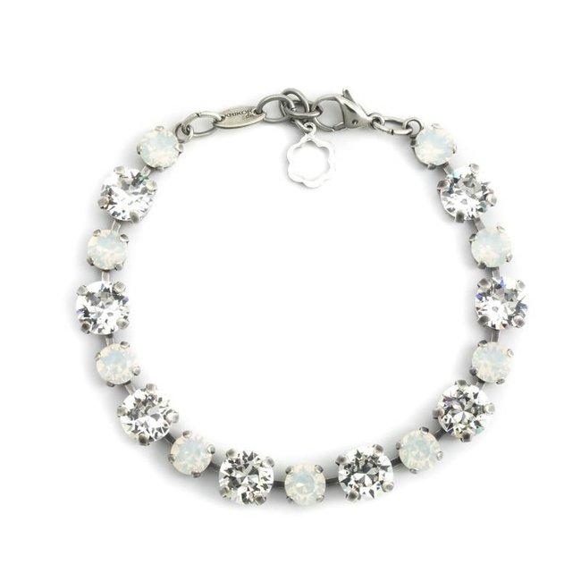 Witte armband met Swarovski kristallen