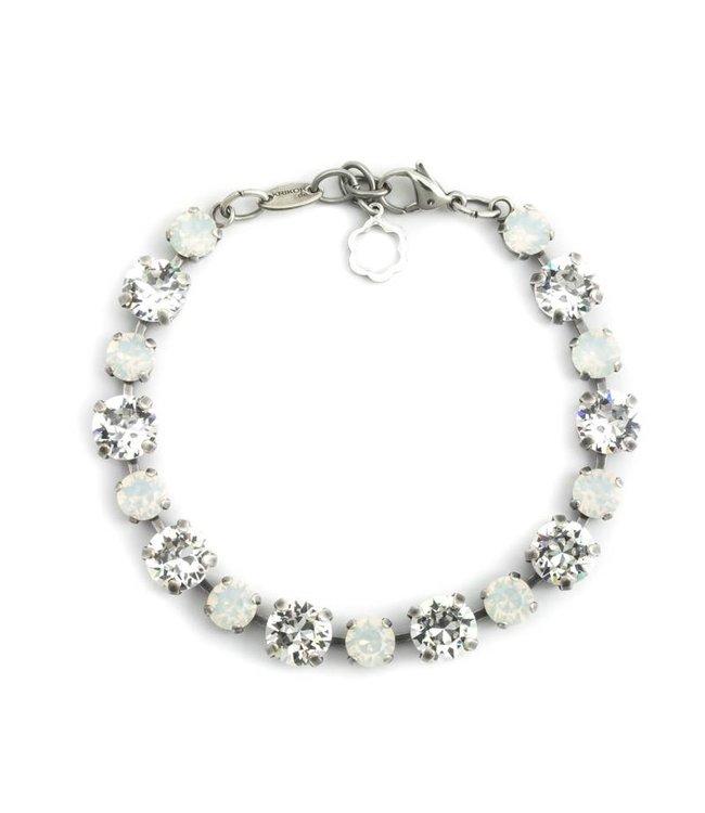 Krikor Witte armband met Swarovski kristallen
