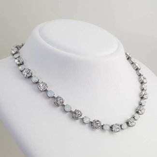 Krikor Wit collier kristal