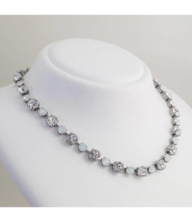 Krikor Wit collier met Swarovski kristallen