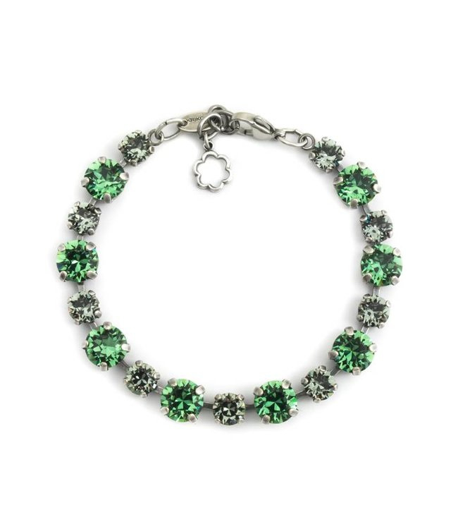Krikor Groene armband met Swarovski kristallen