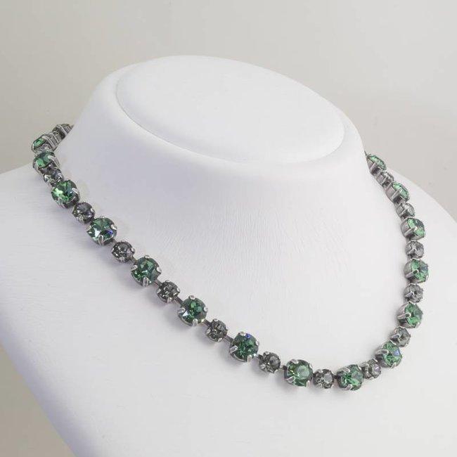 Krikor Groen collier kristal