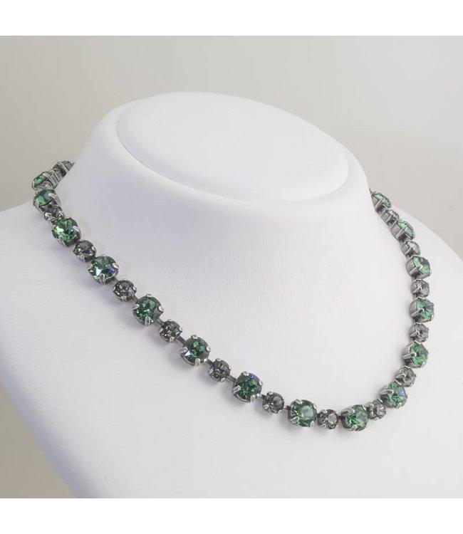 Krikor Groen collier met Swarovski kristallen