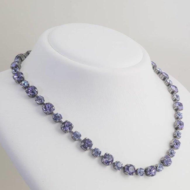 Paars collier met Swarovski kristallen