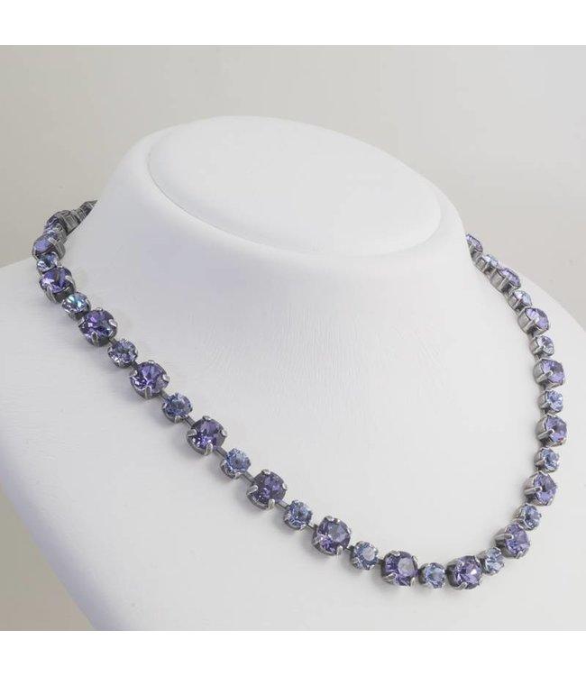 Krikor Paars collier met Swarovski kristallen