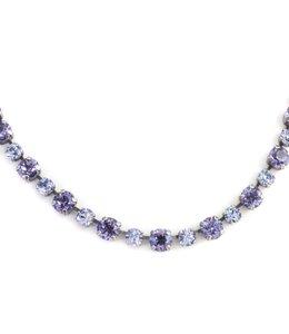 Krikor Paars  collier kristal