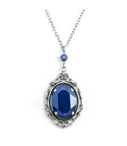 Krikor 'Royal' blauw collier kristal
