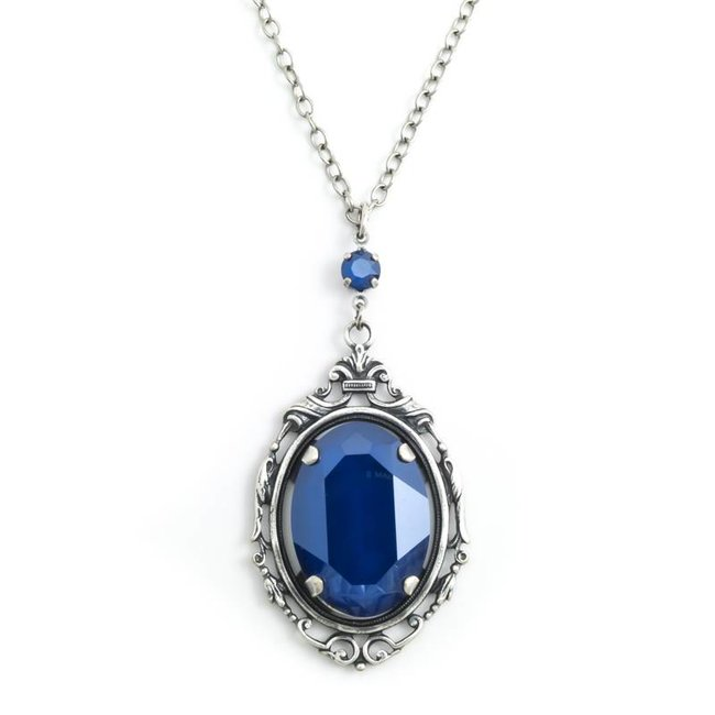 Krikor 'Royal' blauw collier kristal