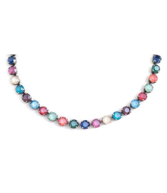 Krikor Meer kleurig collier 'Shiny' met Swarovski kristallen