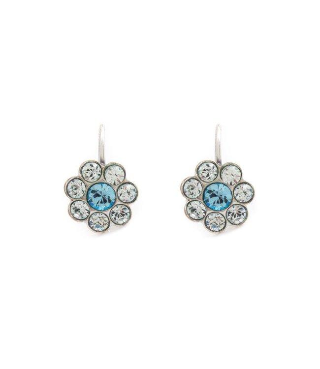 Krikor Kleine bloem oorbellen met kristal