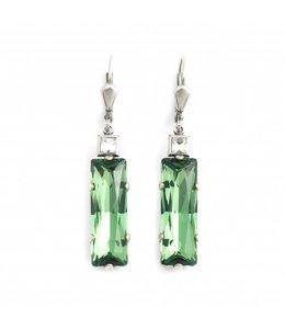 Krikor Groene oorbellen kristal
