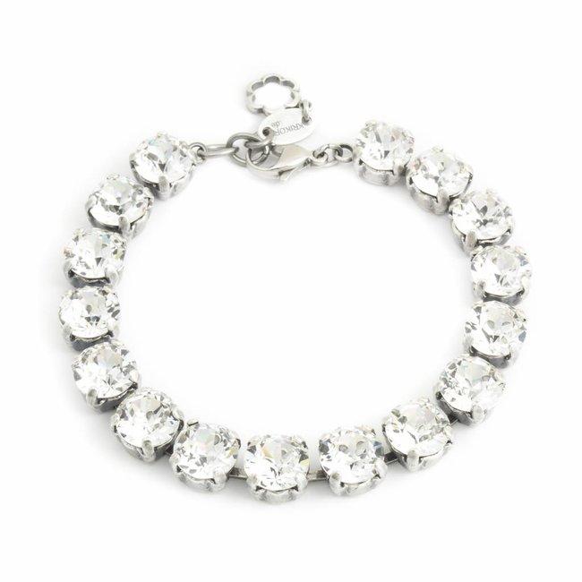 Heldere armband met Swarovski kristallen