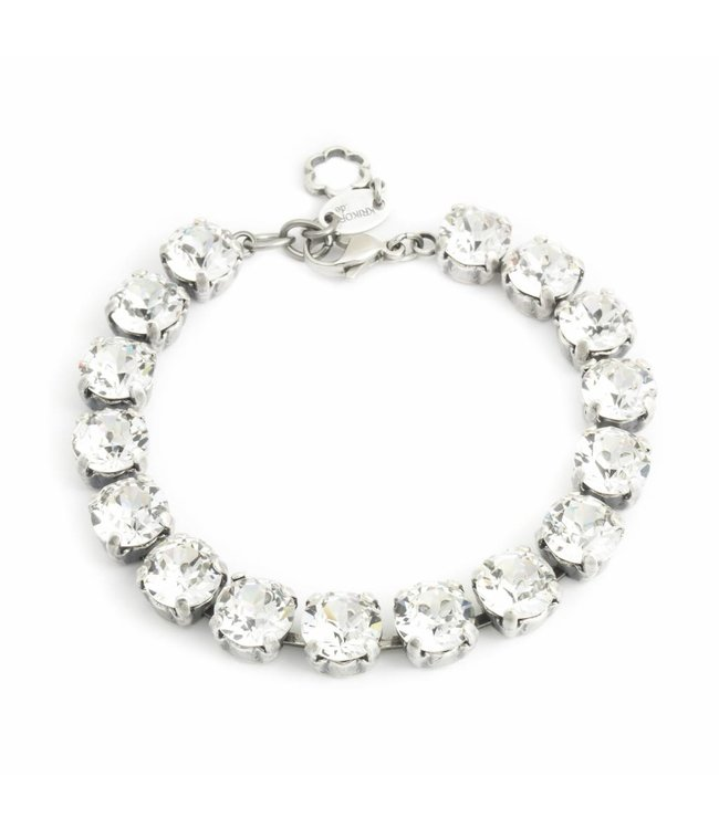Krikor Heldere armband met Swarovski kristallen