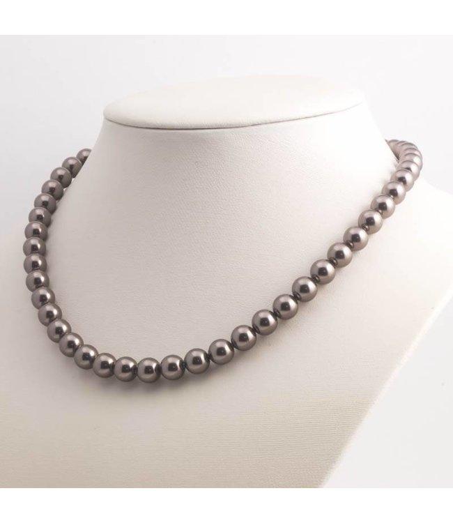 Krikor Bruine parel ketting met 8 mm brown pearl