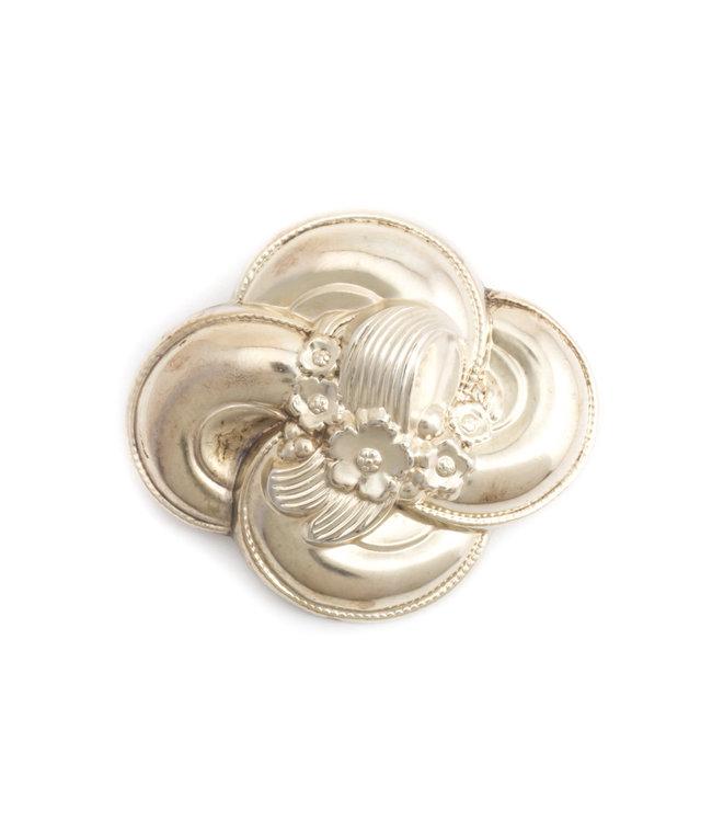 Aurora Patina Antieke zilveren Biedermeier broche
