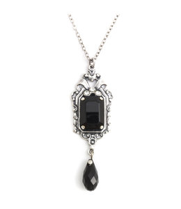 Krikor Zwart collier kristal Jugendstil