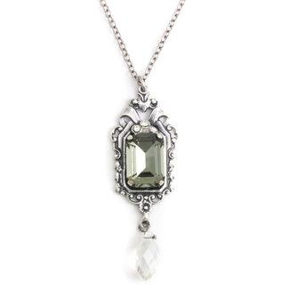 Krikor Grijs collier kristal jugendstil