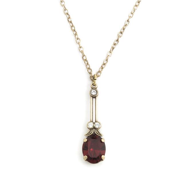 Krikor Halsketting rood kristal