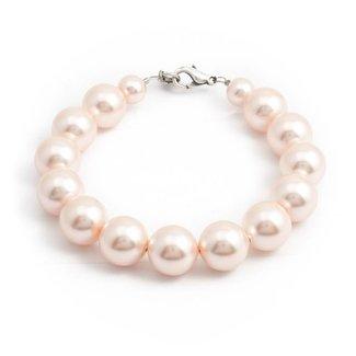 Krikor Perzik roze parel armband 12 mm
