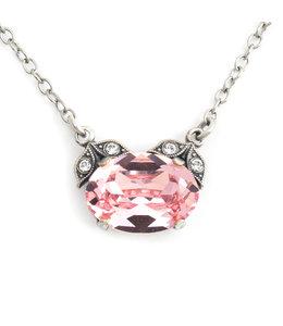Krikor Halsketting roze kristal