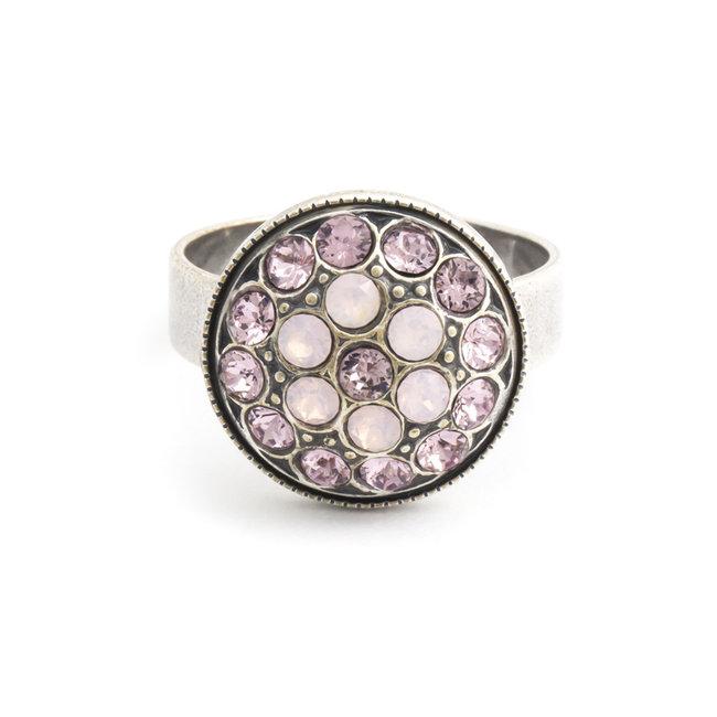 Krikor Roze ring kristal bloem