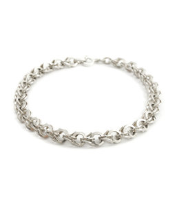 Aurora Patina Zilveren schakel armband