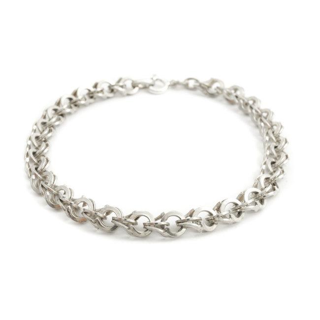 Zilveren armband met open schakels