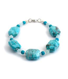 Aurora Patina Armband met jaspis, turquoise en aquamarijn