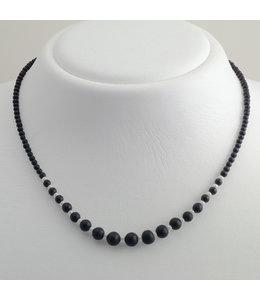 Aurora Patina Zwart onyx collier met verloop