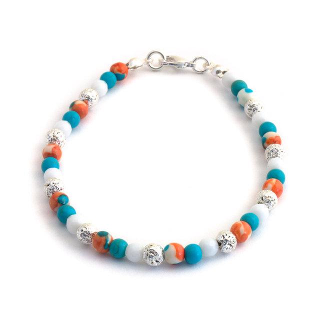 Aurora Patina Armband jaspis, turquoise en albast