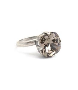 Krikor Licht bruine ring Swarovski kristal