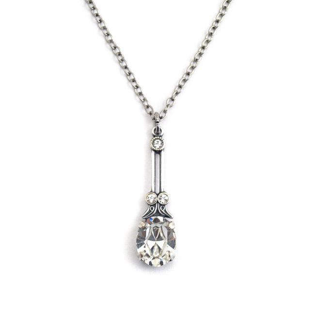 Halsketting met helder kristal