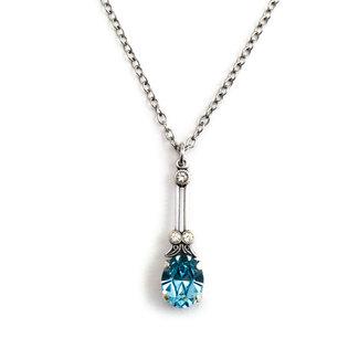 Krikor Halsketting licht blauw kristal