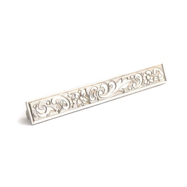 Zilveren broche art nouveau met trompet sluiting