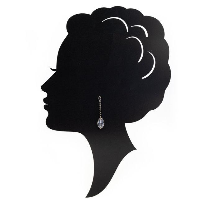 Lange oorbellen met helder kristal