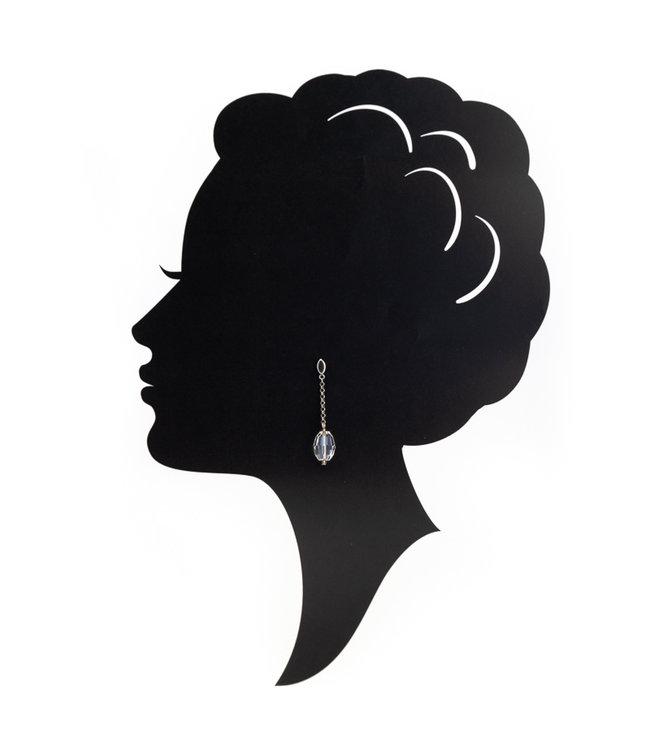 Aurora Patina Lange oorbellen met helder kristal