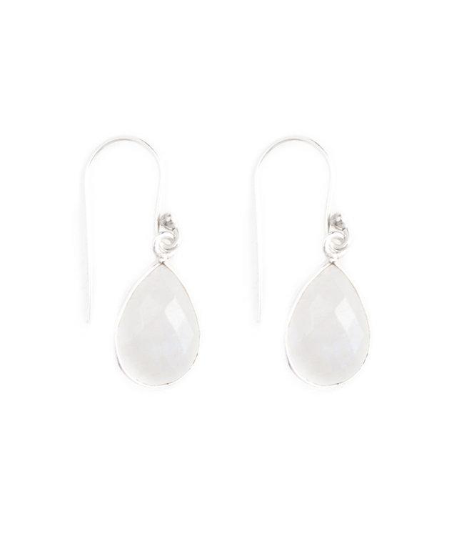 Aurora Patina Zilveren oorbellen met maansteen