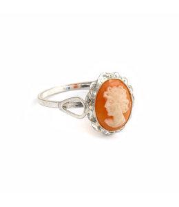 Mario Scognamiglio Zilveren ring met kleine ovale camee