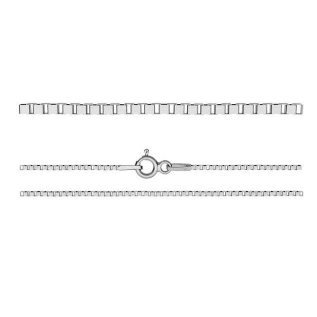 Losse zilveren ketting 60 cm Venetiaanse schakel