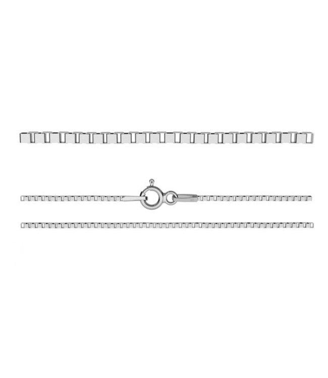 Aurora Patina Losse zilveren ketting 60 cm Venetiaanse schakel