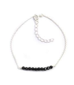 Aurora Patina Zilveren armband onyx