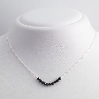 Aurora Patina Zilveren collier onyx