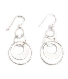 Aurora Patina Zilveren oorbellen Cirkels