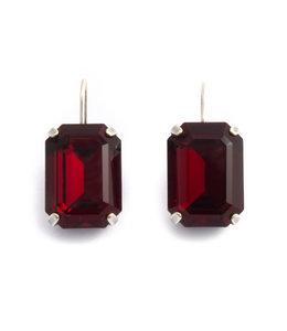 Krikor Rode kristal oorbellen