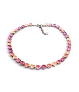 Krikor Oranje roze collier kristal