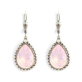 Krikor Druppel oorbellen opaal roze kristal