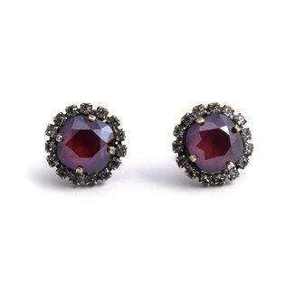 Krikor Rode kristal oorstekers 12 mm