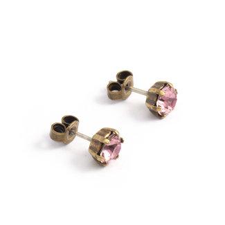 Krikor Licht roze oorknopjes 6 mm
