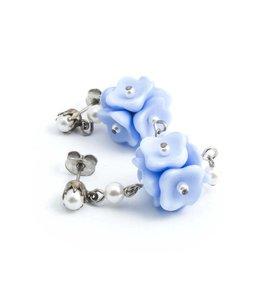 De Luxe Blauwe oorbellen